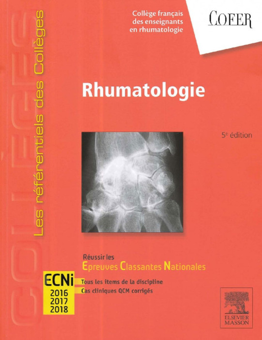 Rhumatologie Les références des colléges